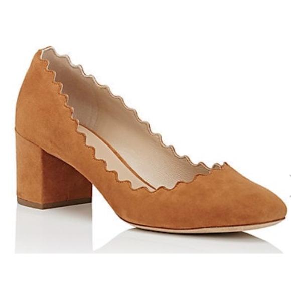 901f6d577b1 New Chloe Lauren Brown (Cognac) Suede Pumps SZ 41